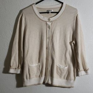 100% cotton XL tan and cream cardigan